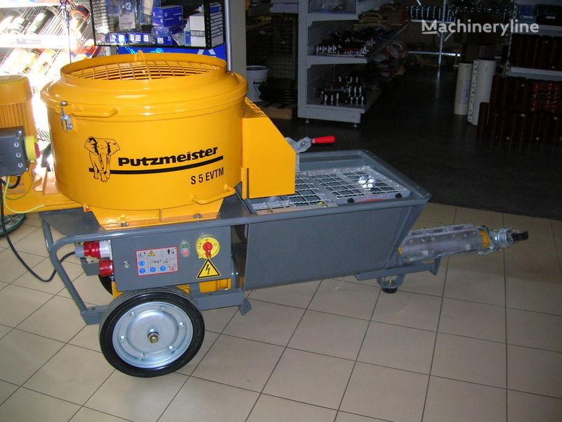 new PUTZMEISTER S5 EV/TM stationary concrete pump