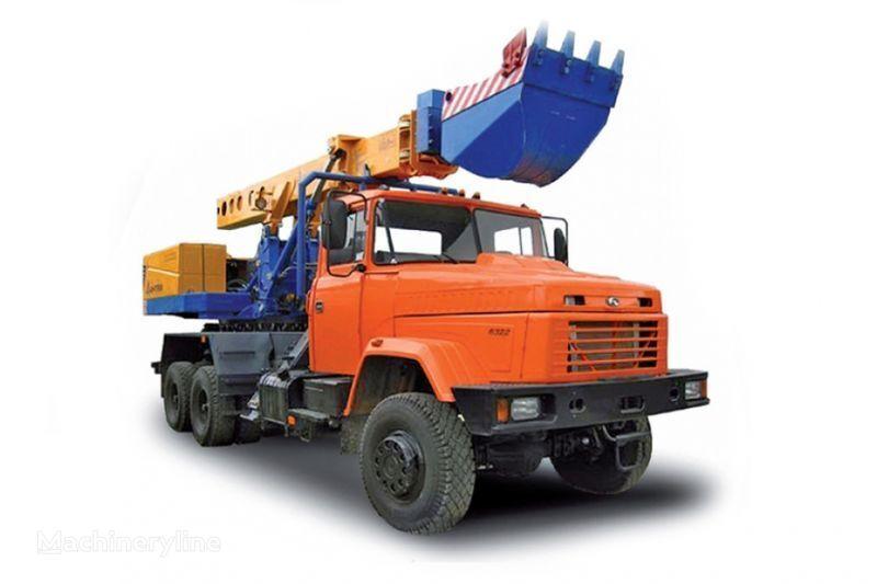 KRAZ 6322 EW-25-M1 Ekskavator-planirovshchik  telescopic boom excavator