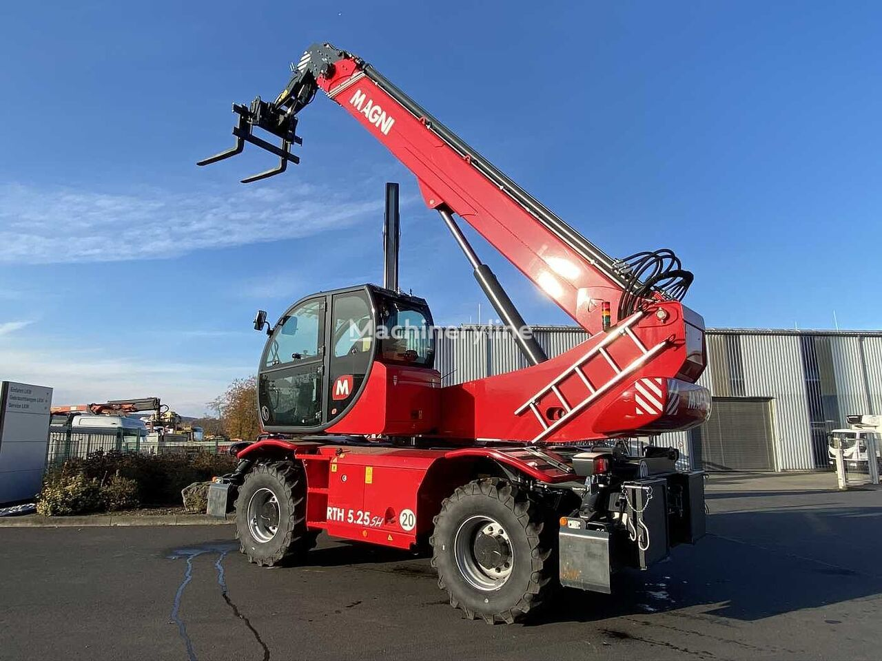new MAGNI RTH 6.25 SH Roto /Funk / Manitou-Schnellw telescopic wheel loader
