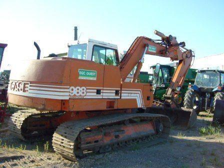 CASE 988 tracked excavator