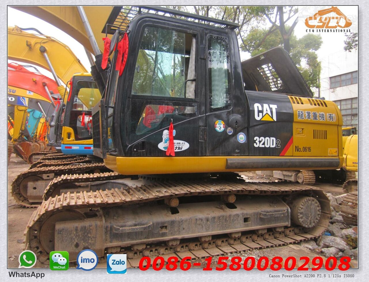 CATERPILLAR 320D2 tracked excavator