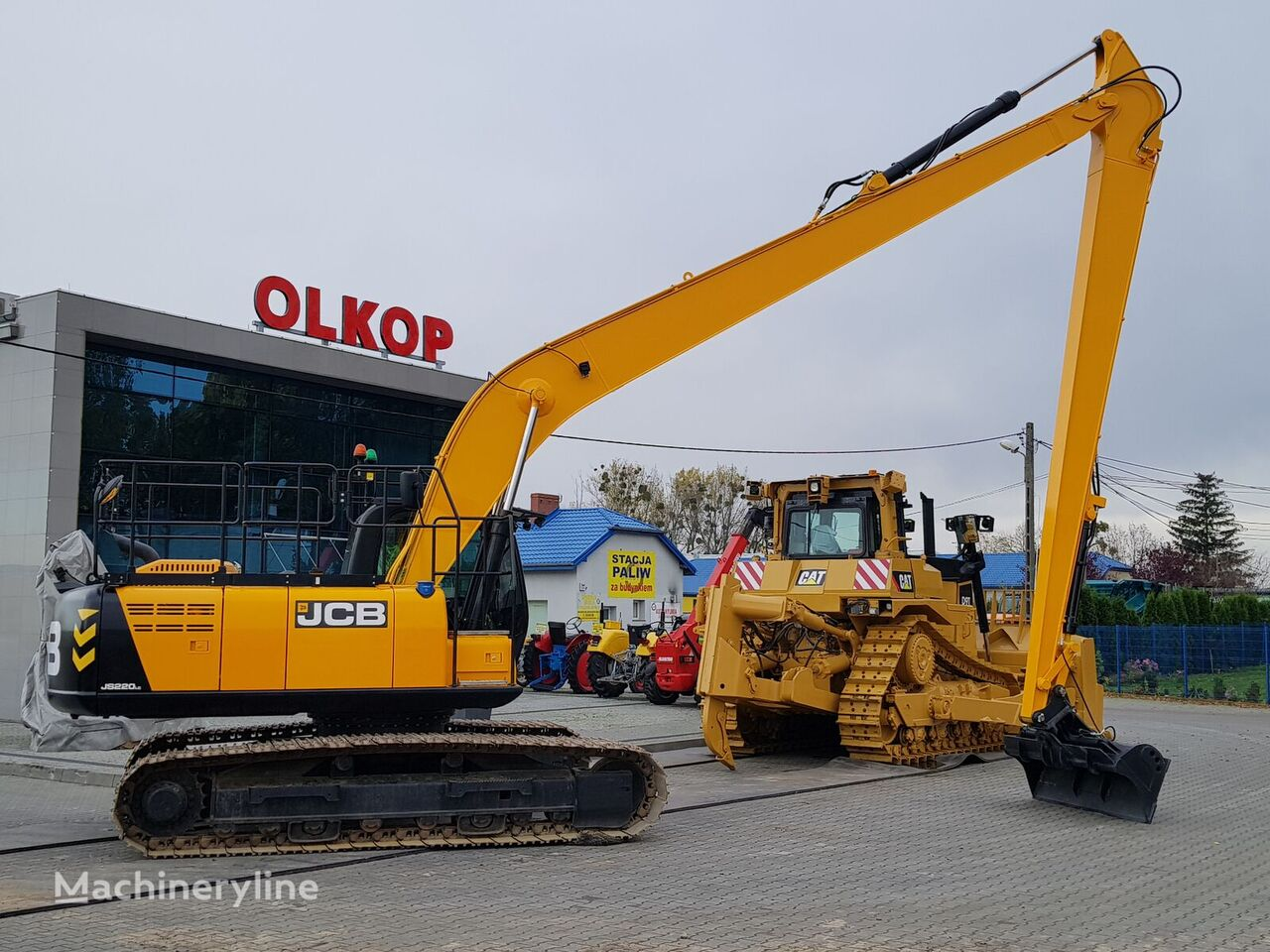 JCB JS220LC+ LONG REACH 16 m / LOW HOURS tracked excavator