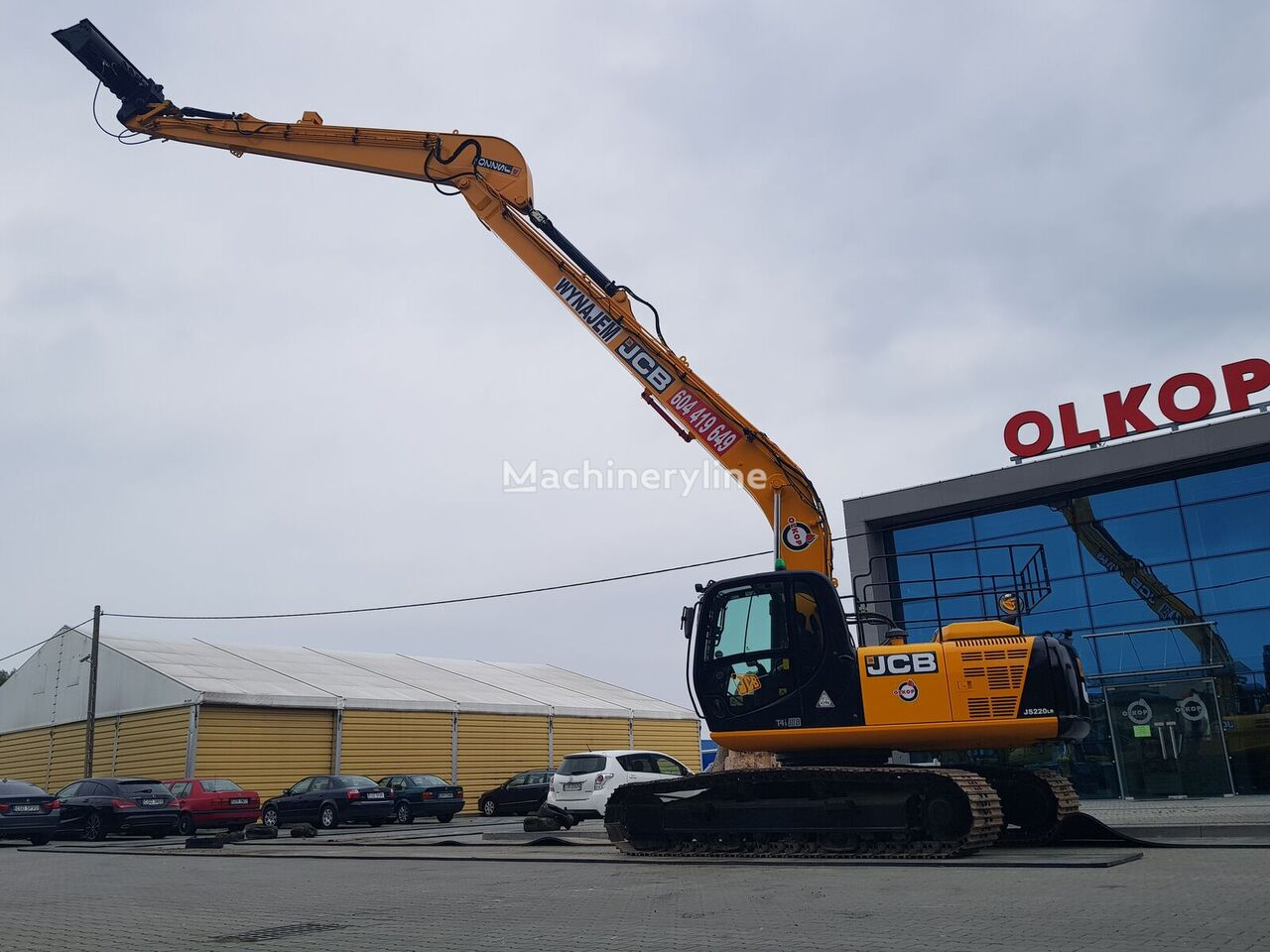 JCB S220 LR LONG REACH 16m/REVERSE CAMERA / LOW HOURS/ 23t tracked excavator