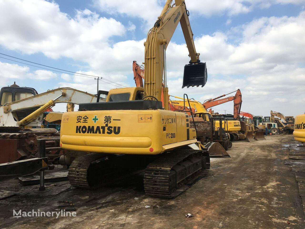 KOMATSU PC200 tracked excavator