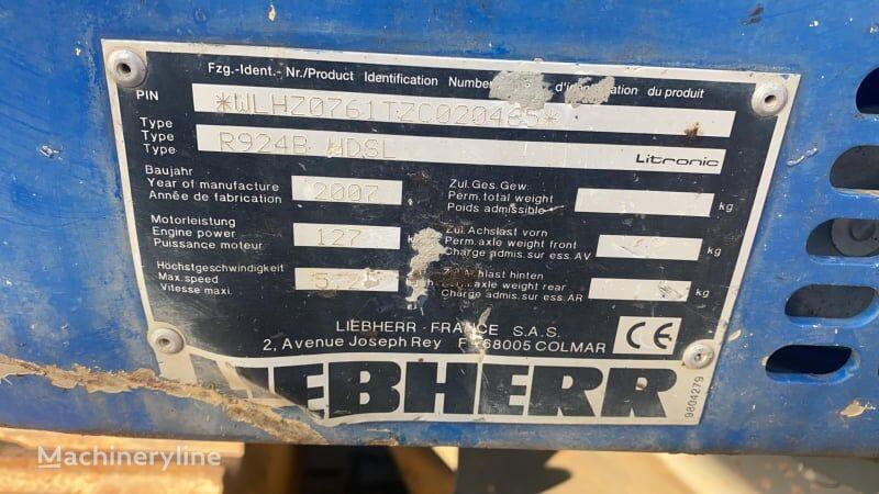 LIEBHERR R924C HDSL tracked excavator