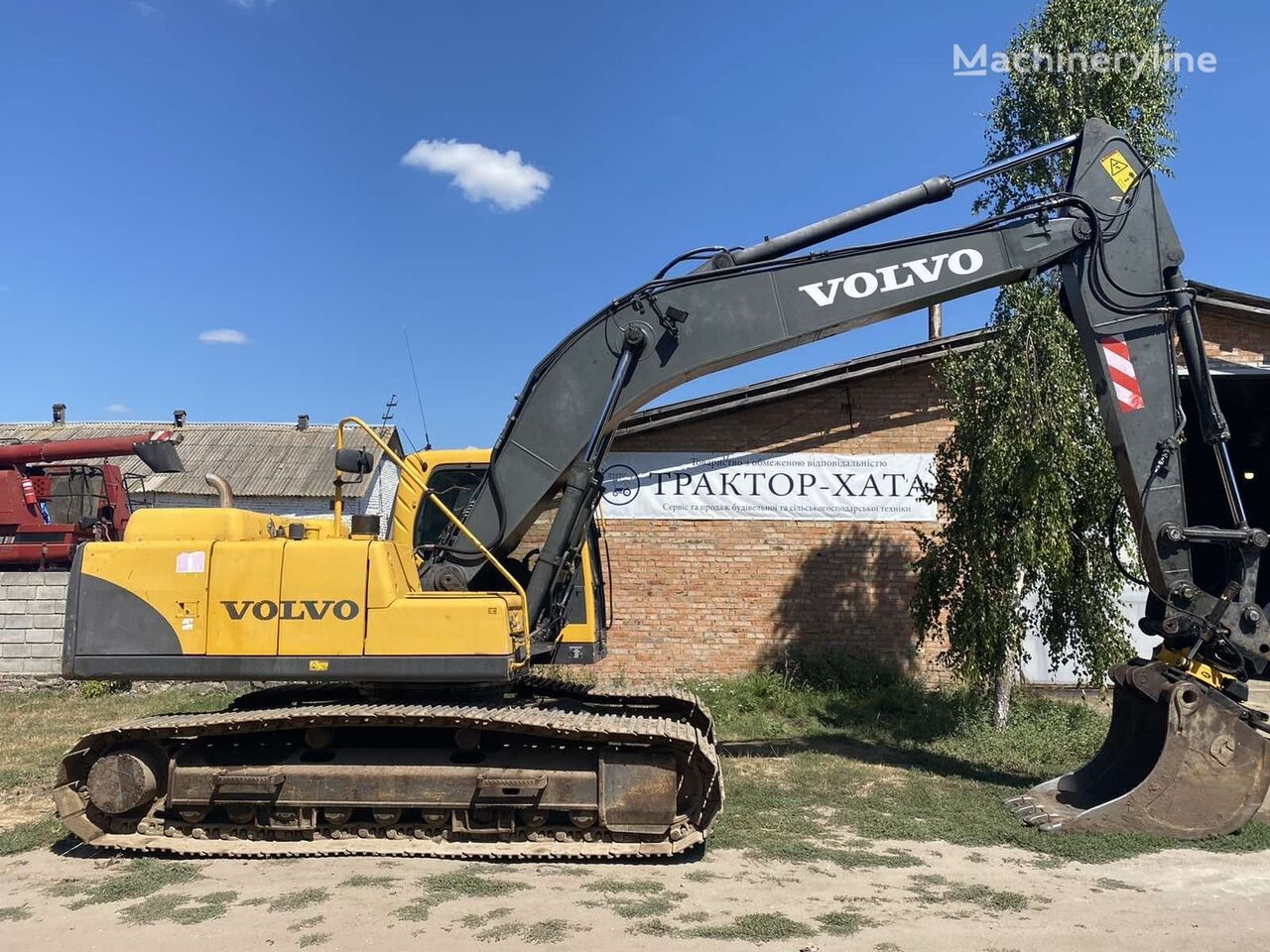 VOLVO EC 210 BLC  v Ukraine ( Ekskavator s Shvecii )  tracked excavator