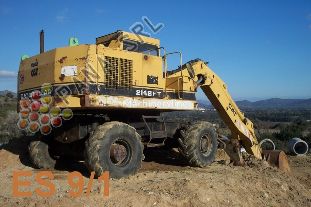 CATERPILLAR 214 BFT wheel excavator