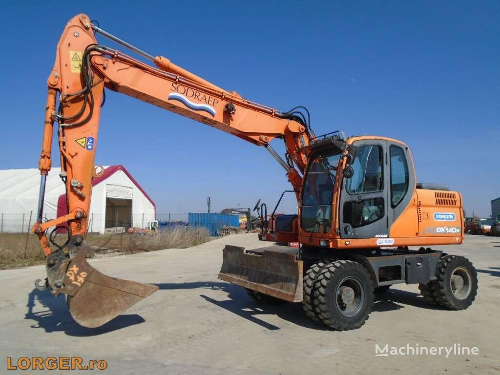 DOOSAN DX 140 W wheel excavator