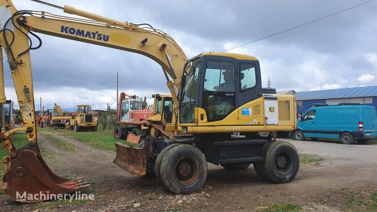 KOMATSU PW130 wheel excavator
