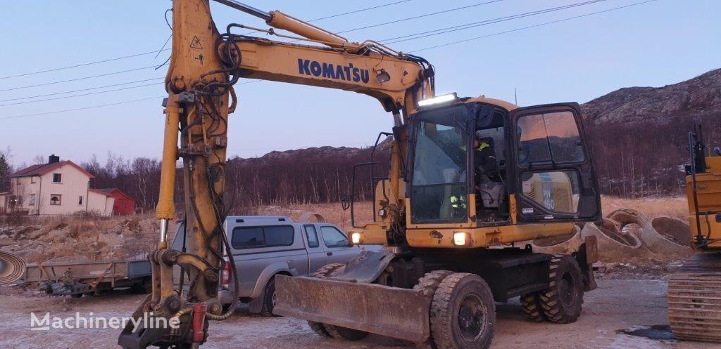 KOMATSU PW160-7K wheel excavator