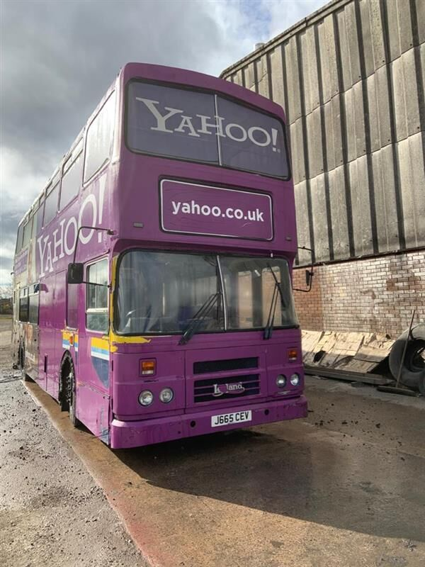 Leyland Olympian outdoor facilities bus double decker bus