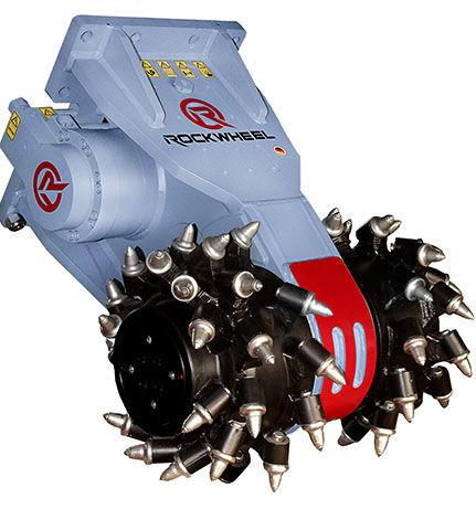 new Rockwheel D30 hydraulic milling machine excavator mill drum cutter
