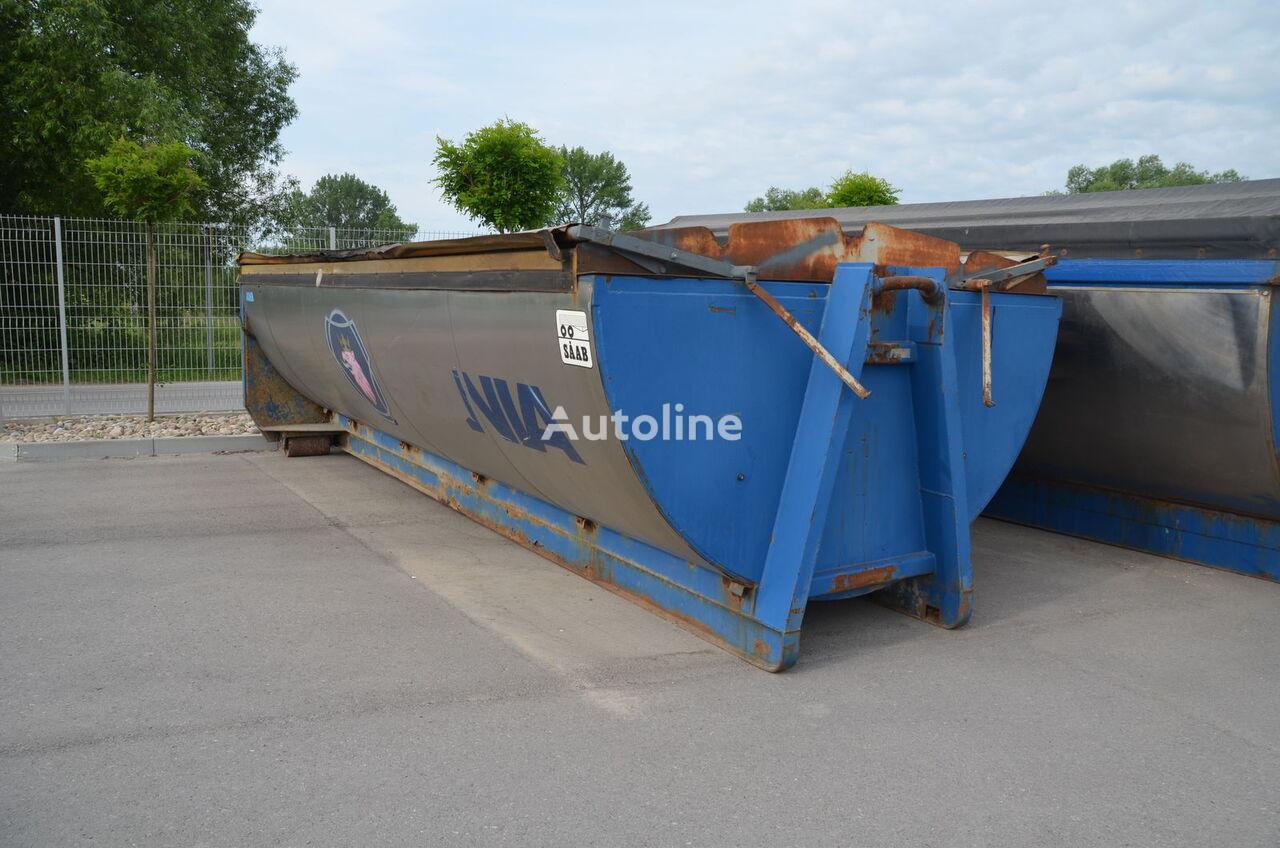 Asphalt container dump truck body