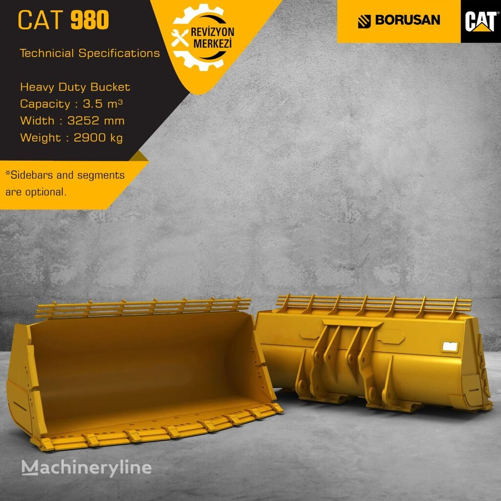 new CATERPILLAR 980H 950GC front loader bucket