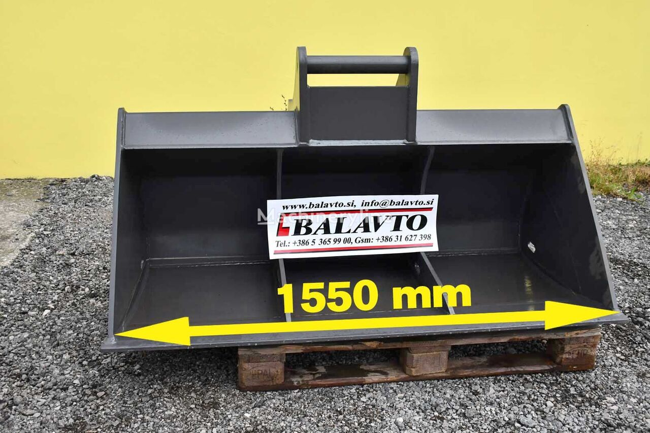 new Excavator ditch cleaning / slope bucket 1500 mm front loader bucket