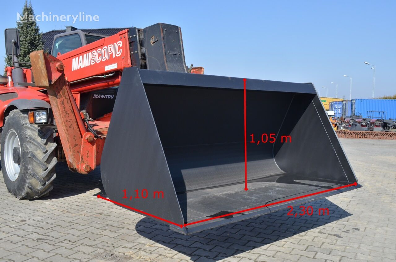 new MANITOU 2,5 m3 front loader bucket