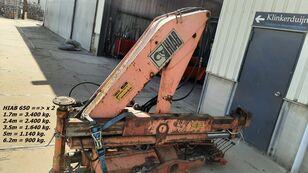 HIAB 650 ==> x 2 Hydraulisch 1 x Manual loader crane