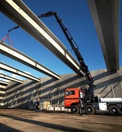 new HIAB XS 1055 loader crane