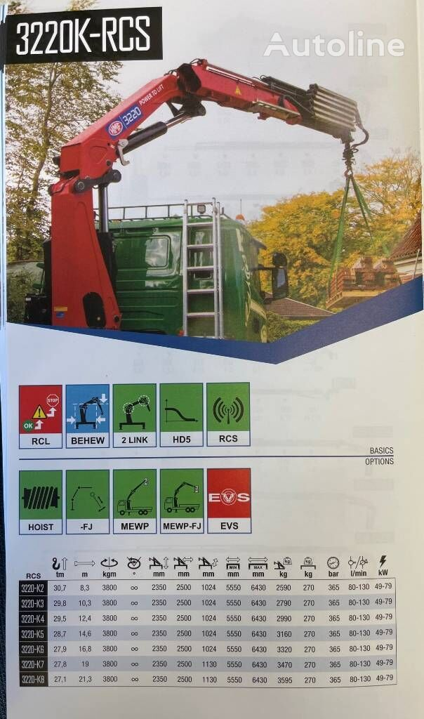 new HMF 3220-K6 loader crane