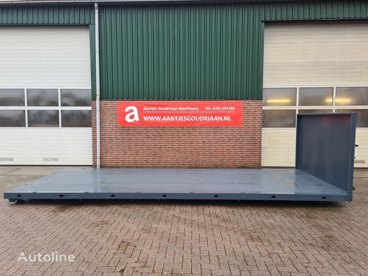 Container flat platform truck body