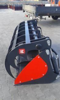 new InterTech Łyżko krokodyl ząb palony Greifschaufel silage bucket