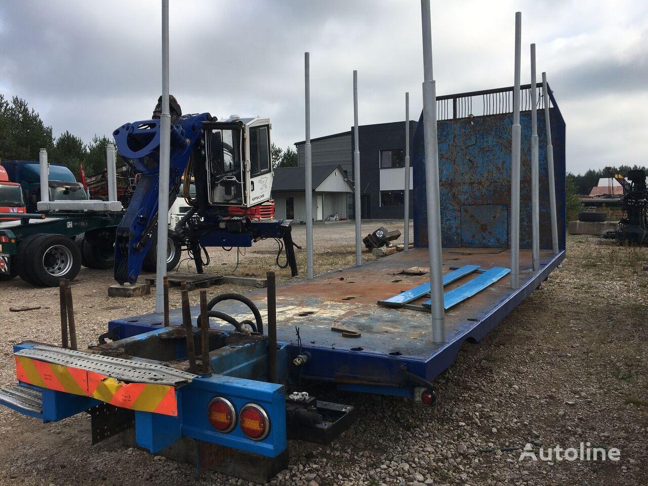 MAN Plateau-Kurzholzaufbau timber truck body