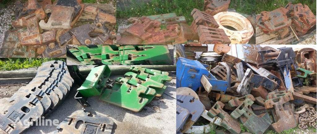 PESOS diversos tipos tractor counterweight