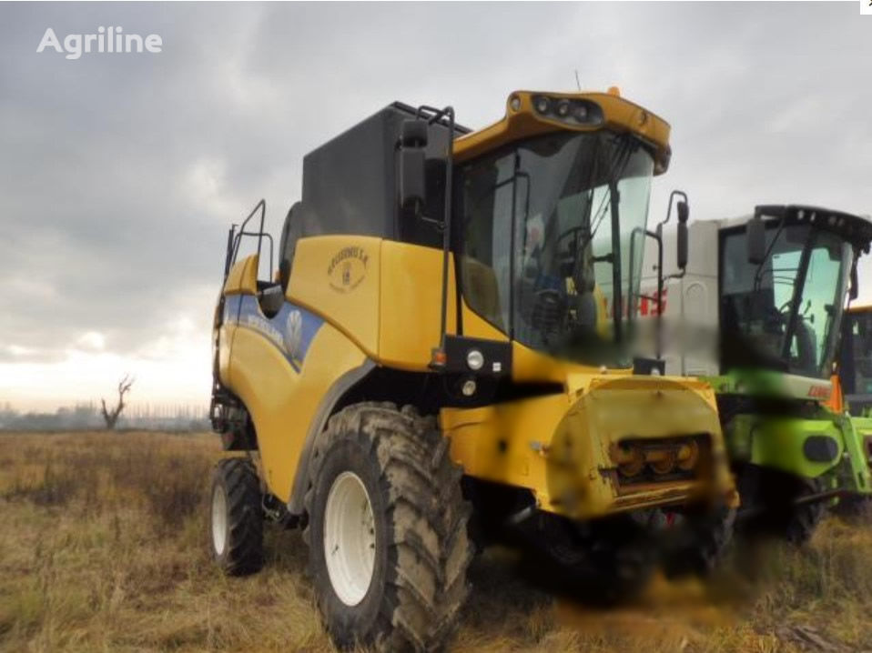 NEW HOLLAND CX 6080 with HEADER combine-harvester