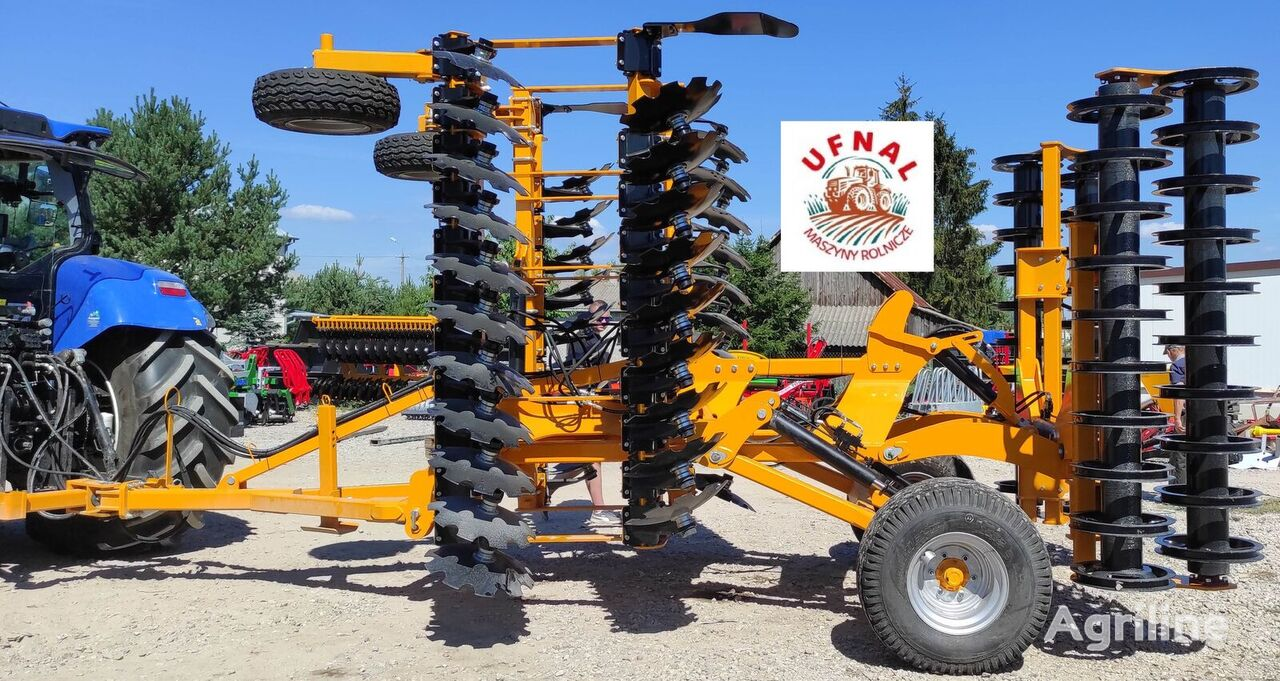 new Brona talerzowa hydrauliczna 5m STALTECH + wózek // SCEIBENEGGE  combine seed drill