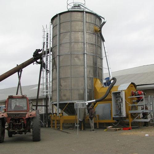 Mobilnaya zernosushilka MECMAR F 75/570F grain dryer