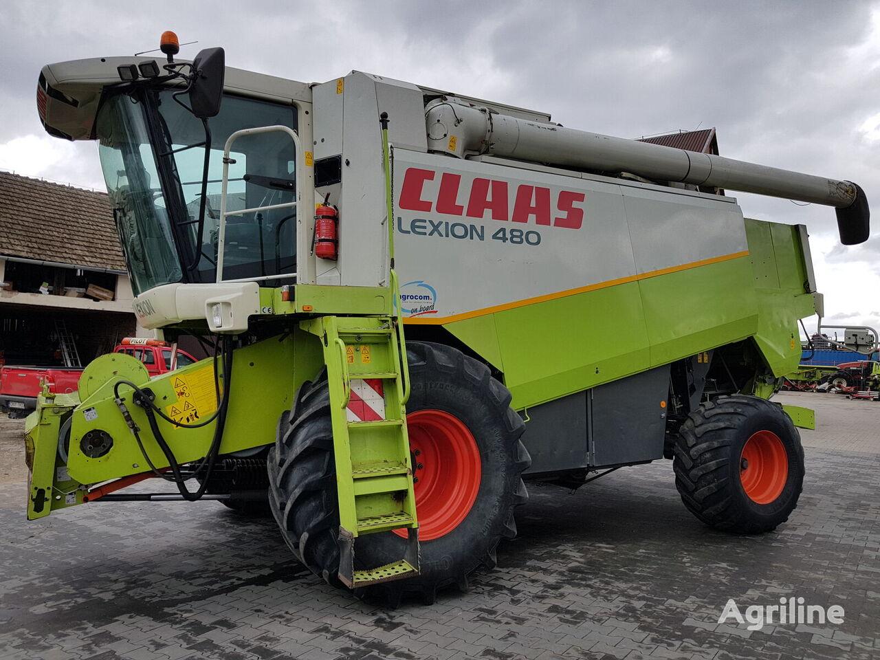 CLAAS Lexion 480 Agrocom on board grain harvester