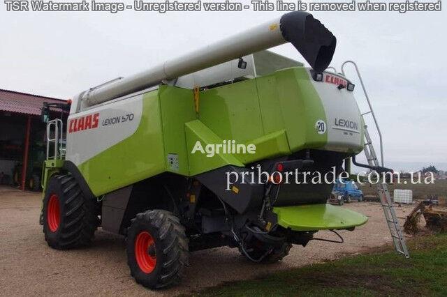 CLAAS Lexion 570 PROVERKA NA MESTE ZVONITE grain harvester