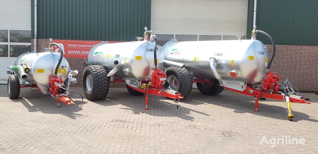 Water tank mb 60 liquid manure spreader