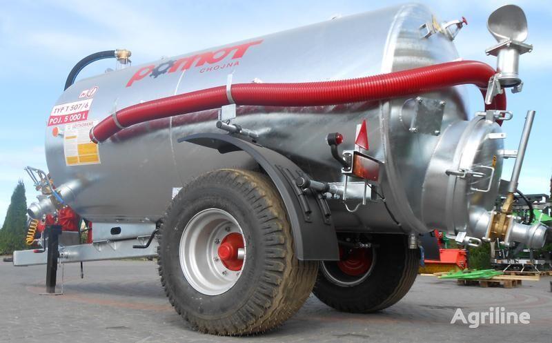 new POMOT Single-axial tanker truck/ Beczkowóz wóz asenizacyjny 5000 l liquid manure spreader