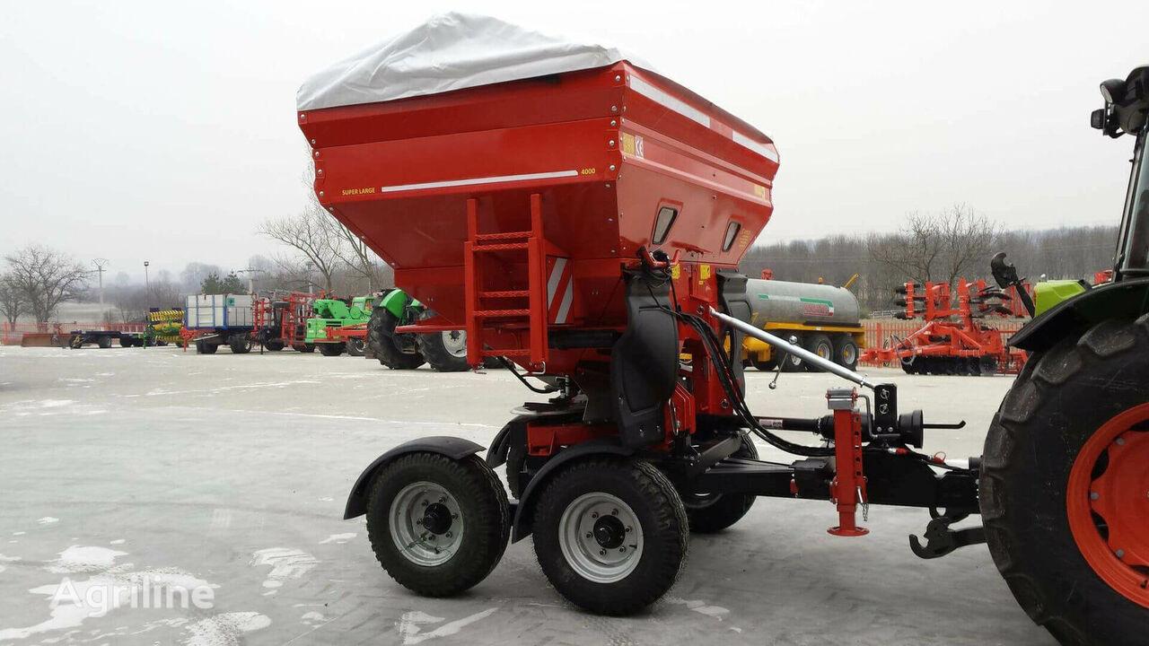 new Fertilizator cu dublu disc, tractat, de mare capacitate, model F mounted fertilizer spreader