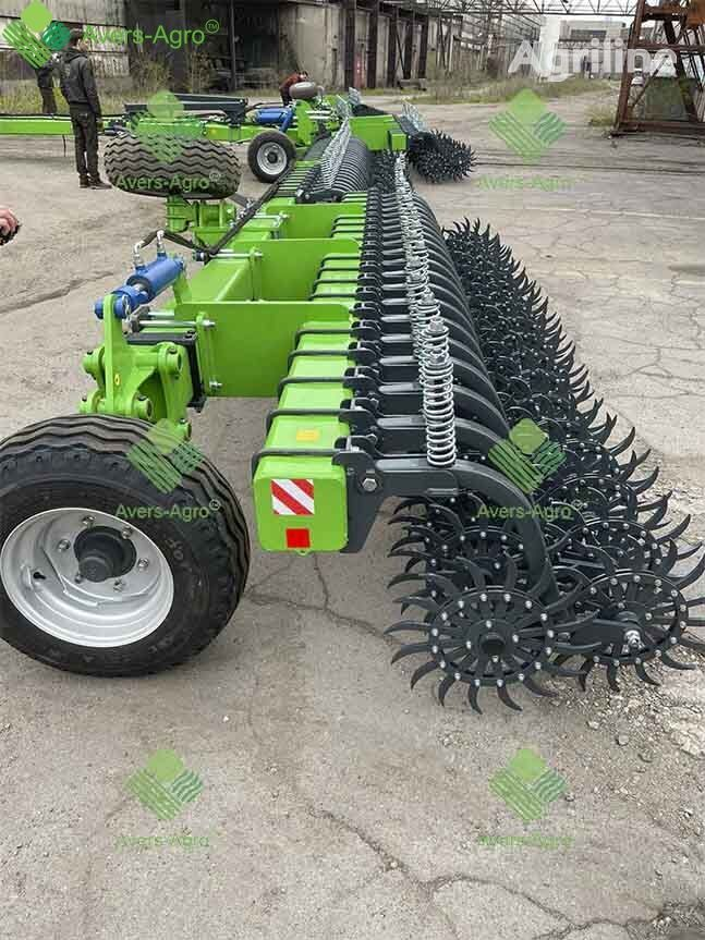 new Avers-Agro Borona rotacionnaya Green Star 18 m pricepnaya s celnymi rabochimi power harrow
