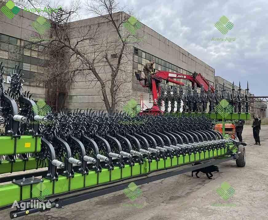 new Avers-Agro Borona rotacionnaya Green Star 24 m pricepnaya so smennymi zubami power harrow