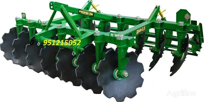 new PROMIN Diskovaya borona DAN 1.8, 2.1,2.5, 2.8, 3.1, 3.5 power harrow