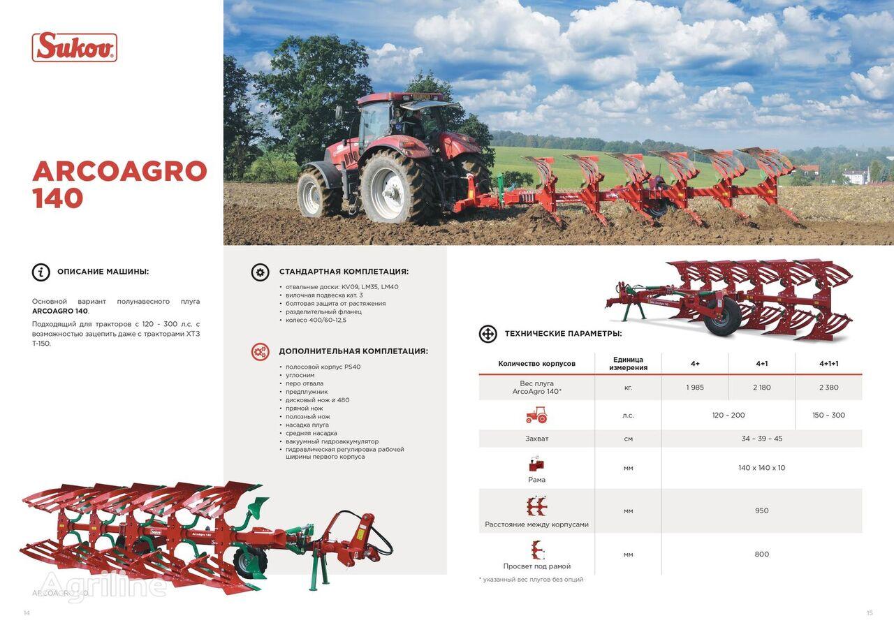 new SUKOV ArcoAgro 140 reversible plough