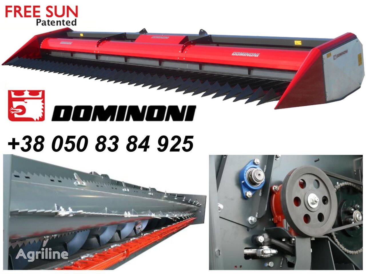 new Dominoni Free sun GF620 sunflower header