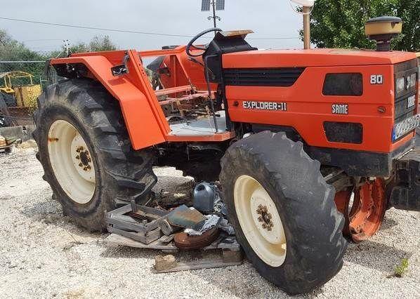 SAME TRACTOR Explorer 80 para recuperação wheel tractor for parts