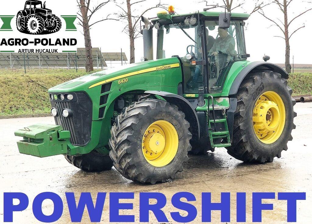 JOHN DEERE 8430 POWERSHIFT - 2008 ROK - AUTOPILOT - GPS - AUTOTRAC wheel tractor