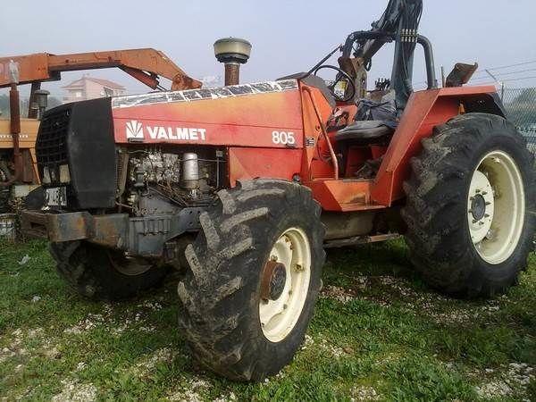 VALMET 805 para peças wheel tractor for parts