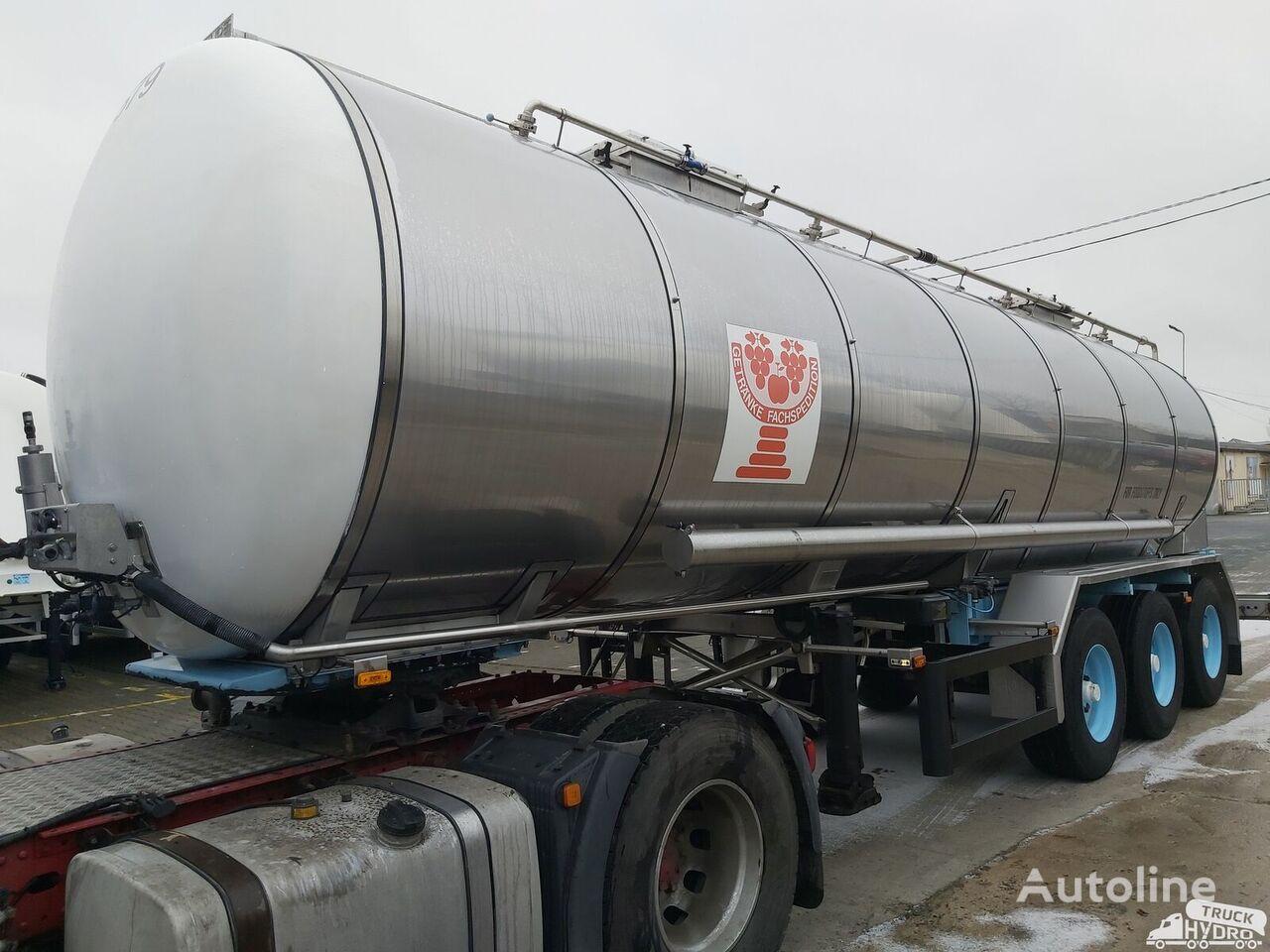 BURG BPO 12 27 Z - z pompą UNIBLOC do rozładunku - 2 wlewy -1 komora food tank trailer