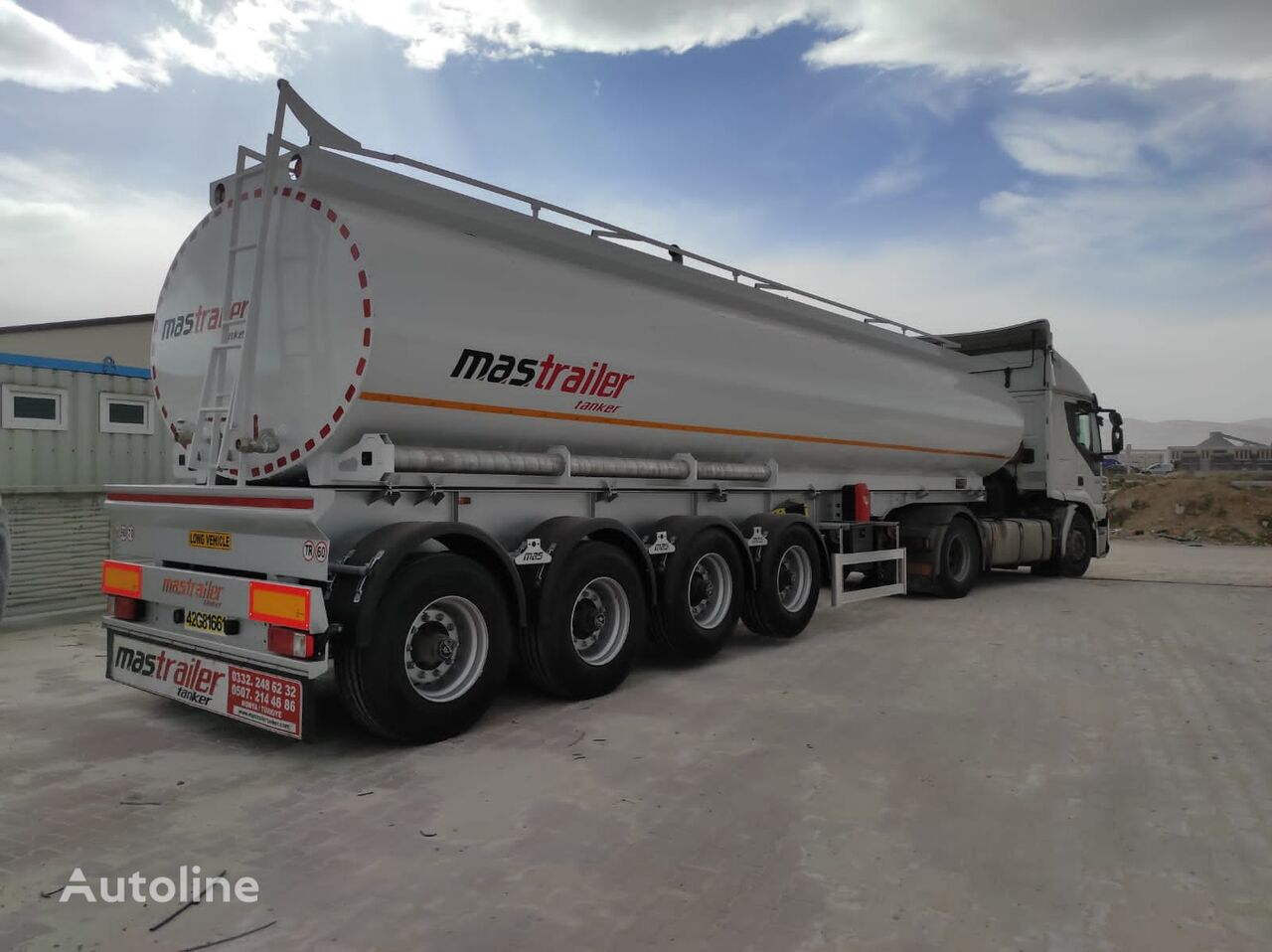 new MAS TRAILER TANKER NEW ISOLATED PALM OIL TANKER SEMI TRAILER  food tank trailer