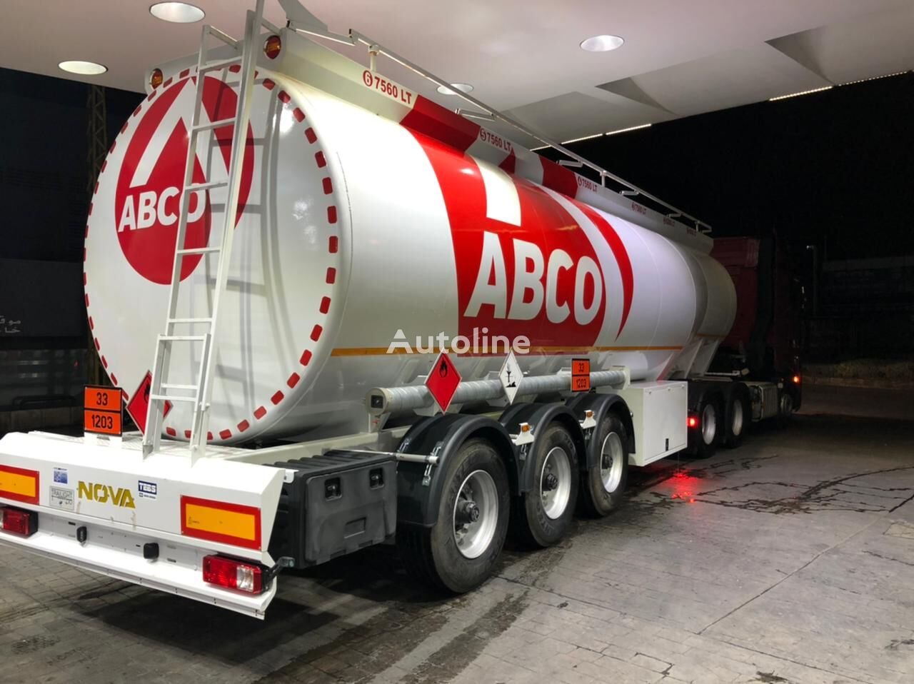 new NOVA NOUVELLE PRODUCTION DE REMORQUE DE CARBURANT EN ACIER ET ALUMINI fuel tank trailer