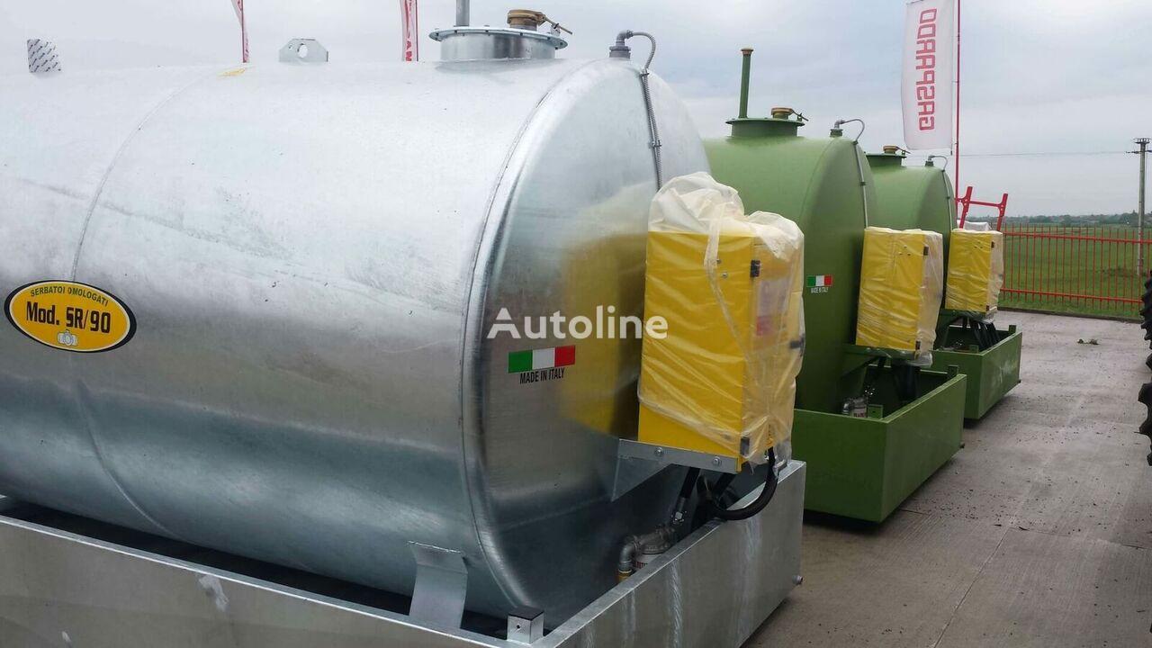 new Rezervor vopsit/zincat de combustibil, omologat, cu capacitate d fuel tank trailer
