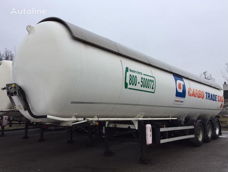 ACERBI GPL PROPAN/BUTAN 1996 P25BH 52.000 L. 25BAR+ABS+ADR 09.2020 gas tank trailer