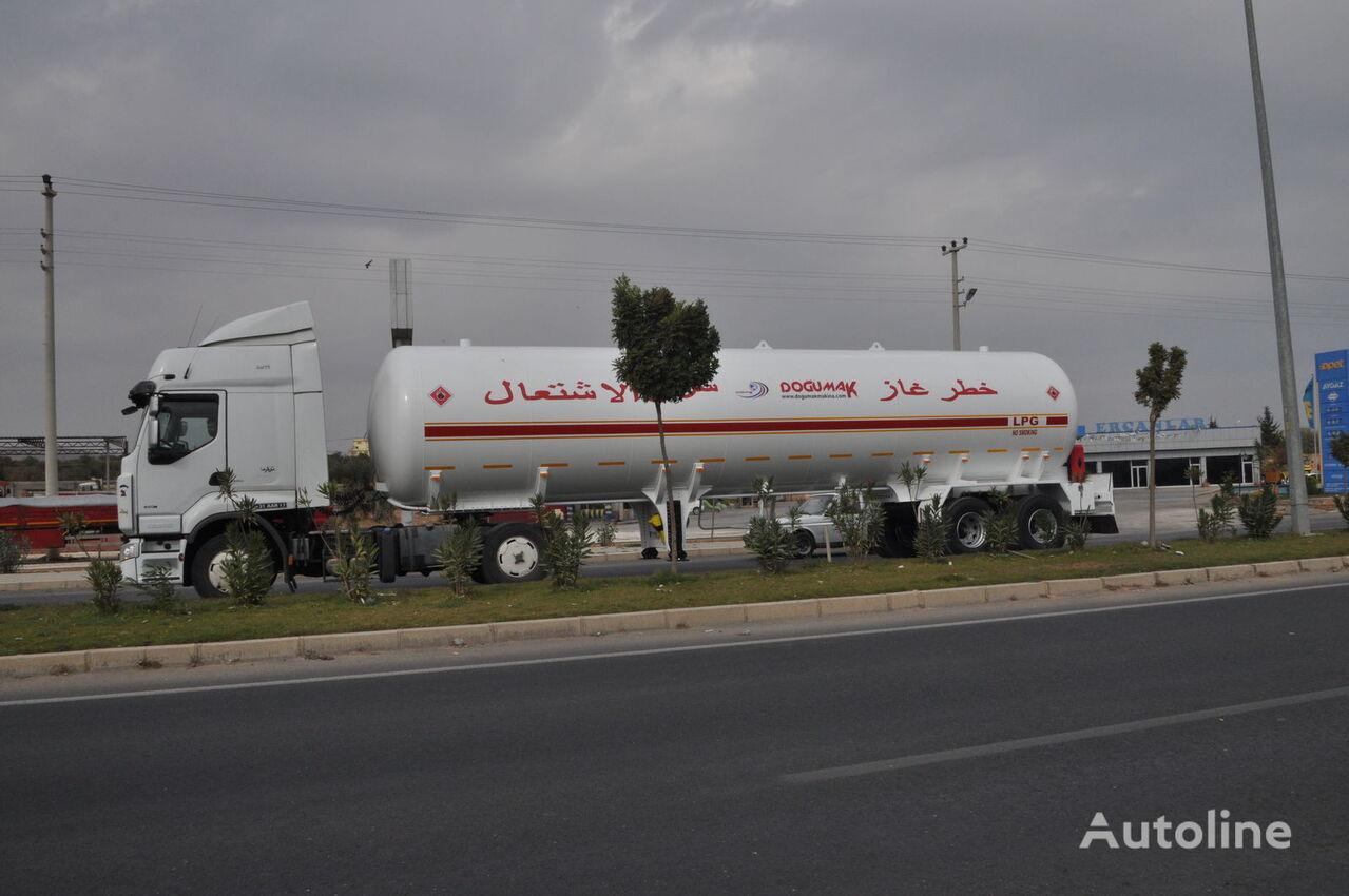 new DOĞUMAK 57 M3 TANDEM AXLE LPG SEMI TRAILER TRANSPORT TANKER gas tank trailer