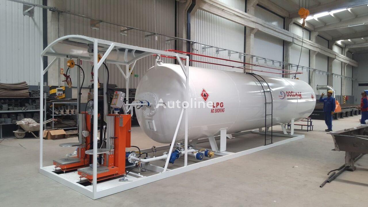 Mini Gas Plant : New doĞumak lpg clynder filling mini skid plant gas tank